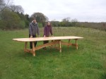 Owen and Fergus with their magnificent table