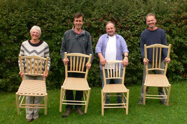 Lath-back chairs