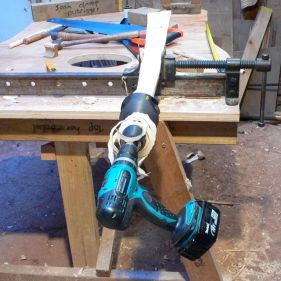"Using the 1 1/2"" tenon cutter"