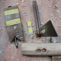 Two holes drilled for the mortice