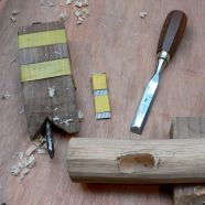 The chisel used to clean out the mortice