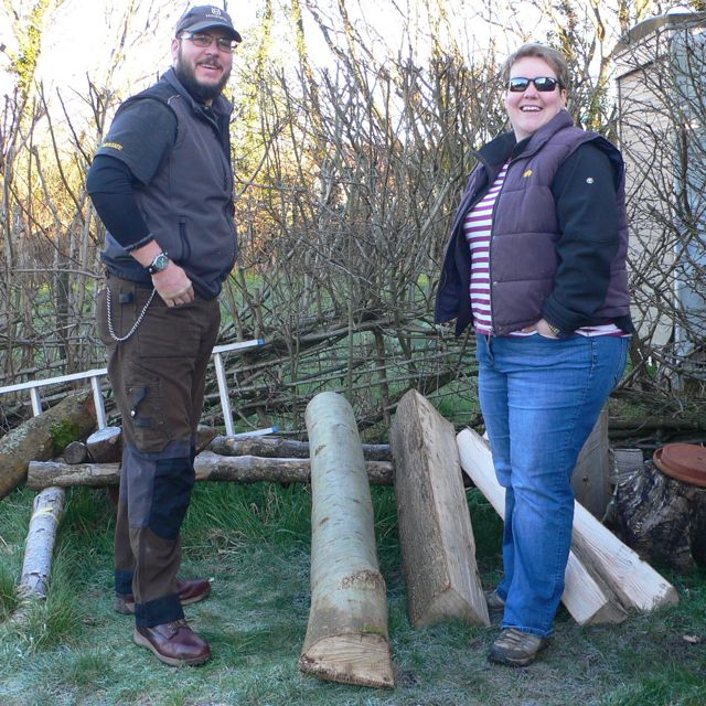 Rhys & Mandy with their green ash