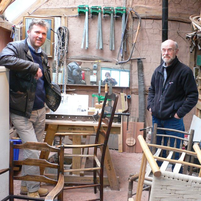 Terry, Richard and a collection of chairs
