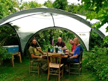 the dining shelter
