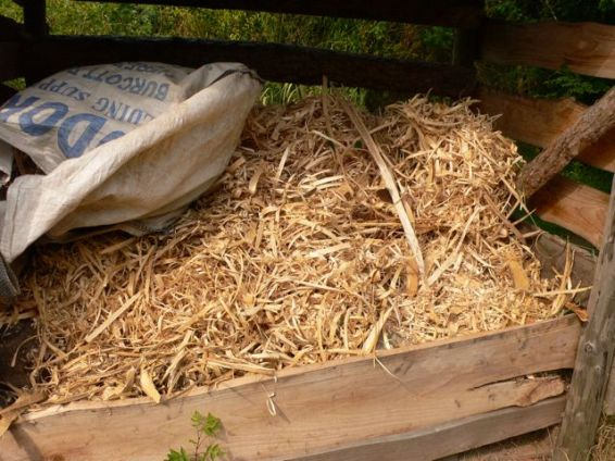 A stack of shavings, which make excellent kindling