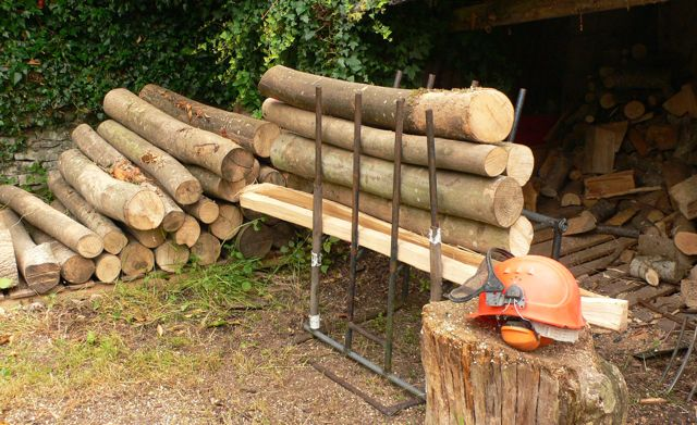 Logs ready for firewood