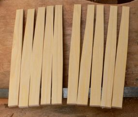 Laths cleft, shaved and ready for steaming