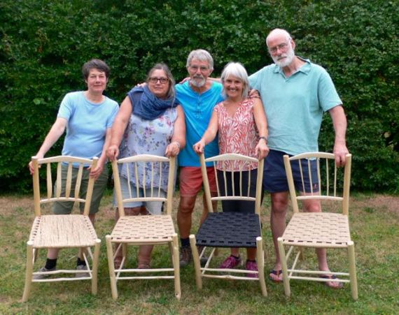 The finished chairs